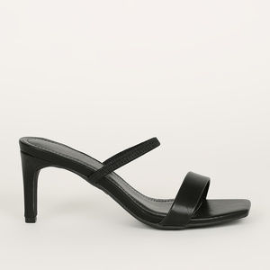 Blogger Babe - Black Transparent Strap Heels